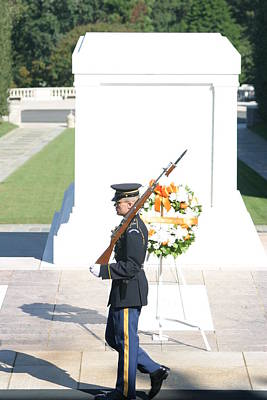 Arlington National Cemetery - Tomb Of The Unknown Soldier - 121214 Print by DC Photographer