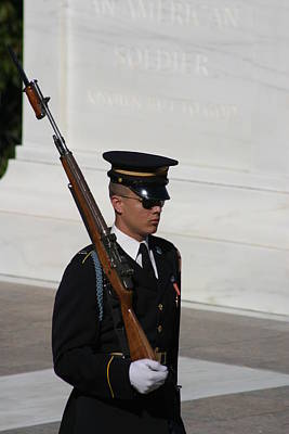 Brave Photograph - Arlington National Cemetery - Tomb Of The Unknown Soldier - 121216 by DC Photographer