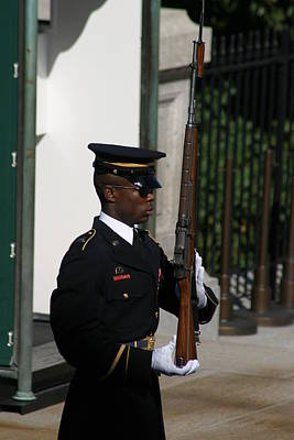 Brave Photograph - Arlington National Cemetery - Tomb Of The Unknown Soldier - 12122 by DC Photographer