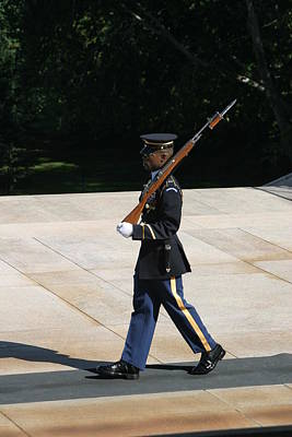 Headstones Photograph - Arlington National Cemetery - Tomb Of The Unknown Soldier - 12124 by DC Photographer