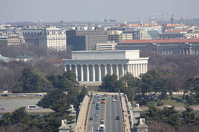 Arlington National Cemetery - View From Arlington House - 12123 Art Print by DC Photographer