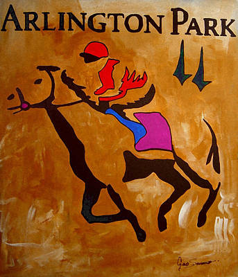 Gino Painting - Arlington Park by Gino Savarino