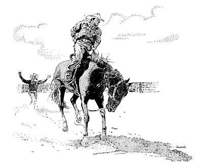 Rodeo Art Drawing - Arm Jerker by Joseph Juvenal