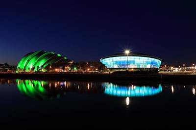 Armadillo And The Hydro At Night Print by Maria Gaellman