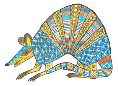 Drawing - Armadillo by Brian Fuchs