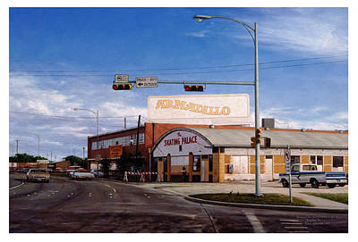 Painting - Armadillo World Headquarters 1976 by Sam Yeates
