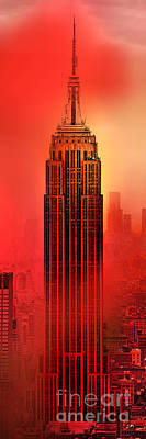 Empire State Building Digital Art - Armageddon by Az Jackson