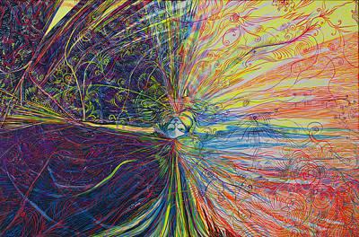 Painting - Armageddon. Thinking Movement by Lola Lonli