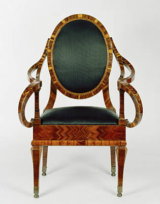 Marquetry Drawing - Armchair Unknown Naples, Italy, Campania by Litz Collection