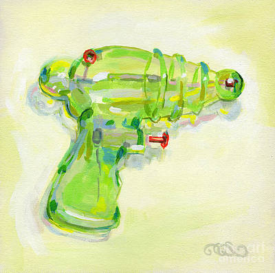 Lime Painting - Armed And Dangerous by Kimberly Santini