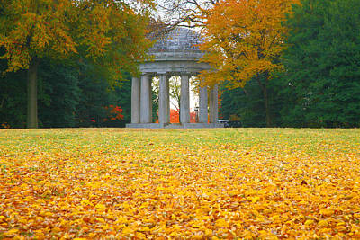 Armed Forces Memorial And Autumn Leaves Art Print