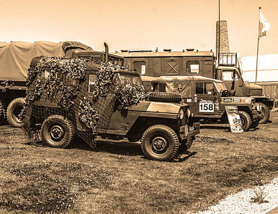 Van Photograph - Armed Forces Vehicles by Paul Howarth