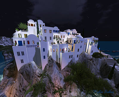 Crete Digital Art - Armenelos Nightfall by Kylie Sabra
