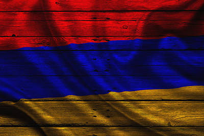 Flag Pole Photograph - Armenia by Joe Hamilton