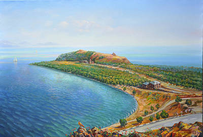 Painting - Armenian Lake Sevan by Meruzhan Khachatryan