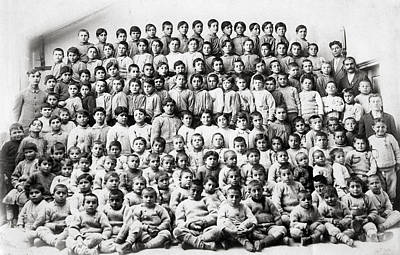 Photograph - Armenian Orphans After Genocide by Celestial Images