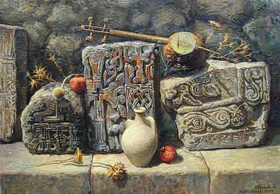 Armenian Painting - Armenian Stones by Meruzhan Khachatryan