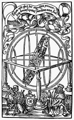 Cosmology Painting - Armillary Sphere, 1514 by Granger