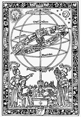 Cosmology Painting - Armillary Sphere, 1531 by Granger