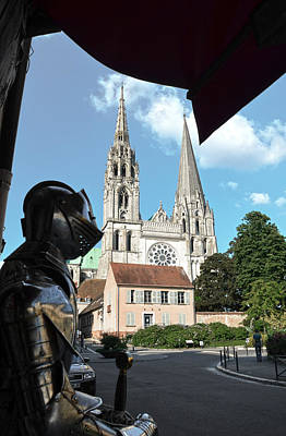 Photograph - Armor And Chartres Cathedral by RicardMN Photography