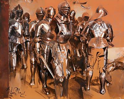 Armor Chamber Fantasy Art Print by Mountain Dreams
