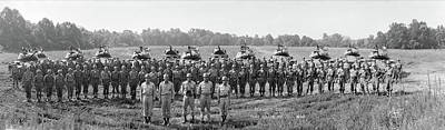 Cavalry Photograph - Armored Cavalry Troop G Fort Meade Md by Fred Schutz Collection
