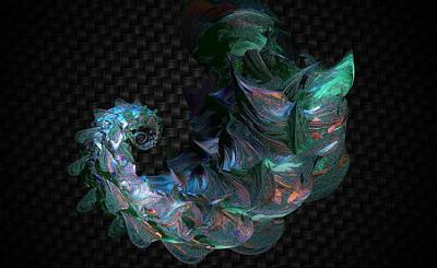 Digital Art - Armored Dragon by Betsy Jones