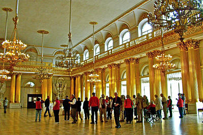 Catherine Palace In Russia Photograph - Armorial Hall In Hermitage Art Museum In Saint Petersburg-russia by Ruth Hager