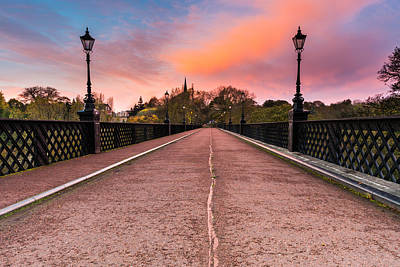 Mellow Yellow Rights Managed Images - Armstrong Bridge at Sunrise Royalty-Free Image by David Head