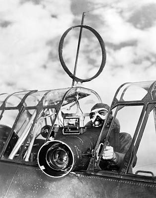 Army Air Force Camera Man Print by Underwood Archives