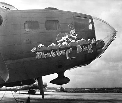 Army Air Force Photo Plane Print by Underwood Archives