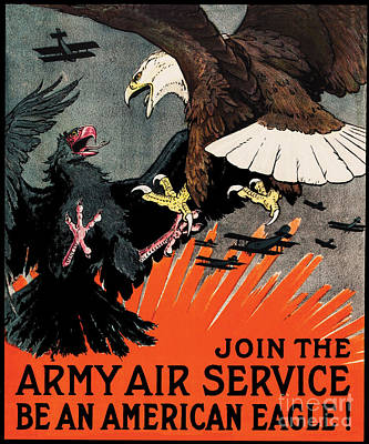 World War One Digital Art - Army Air Force Recruiting Wwi by The Realm  Endless