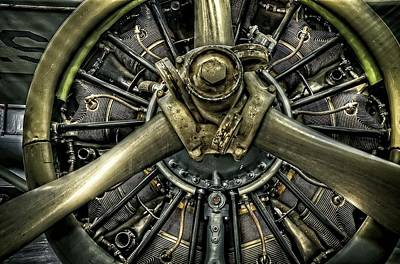 Photograph - Army Airplane Engine by Ken Smith
