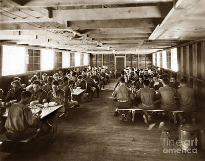 Photograph - Army Mess Hall Fort Ord Monterey California 1941 by California Views Archives Mr Pat Hathaway Archives