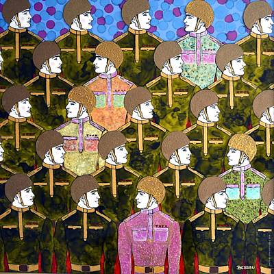 Mixed Media Painting - Army Of Love by Beddru G-bellia