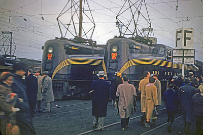 Photograph - Army Vs. Navy Trains by John Dziobko
