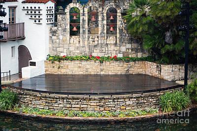 Outdoors Photograph - Arneson River Theater Stage On The Riverwalk La Villita San Antonio Texas by Shawn O'Brien