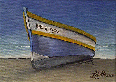 Arniston Painting - Arniston Boat 2 by Liesel Du Plessis