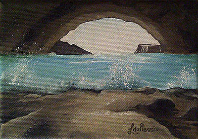 Arniston Painting - Arniston Cave by Liesel Du Plessis
