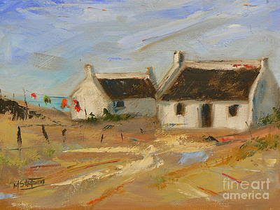 Arniston Painting - Arniston Cottages by Marietjie Du Toit