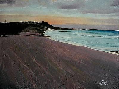 Arniston Painting - Arniston Sunset by Liesel Du Plessis