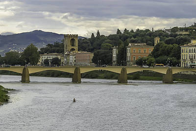 Photograph - Arno River And Architecture In Florence by Karen Stephenson