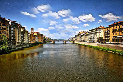 Photograph - Arno River Florence Italy by Maggie Vlazny