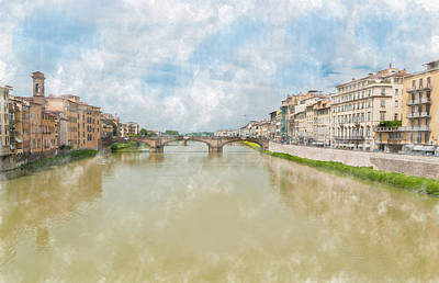 Photograph - Arno River Florence Italy by James Hammond