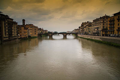 Photograph - Arno River In Firenze Italy by Roger Mullenhour