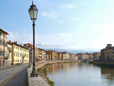 Photograph - Arno River - Pisa - Italy by Phil Banks