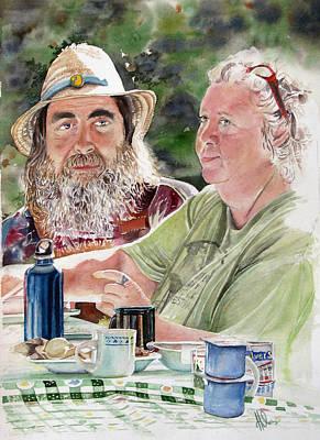 Ontario Portrait Artist Painting - Arny And Tracey by Hilda Van Netten