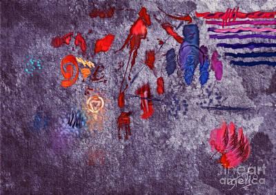 Light Paint Digital Art - Around Indigo by Stelios Kleanthous