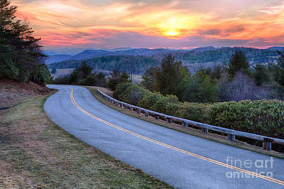 Around The Bend - Blue Ridge Parkway Art Print