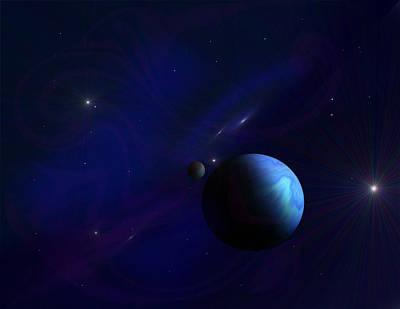 Around The Cosmos Art Print by Ricky Haug